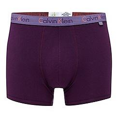 Calvin Klein Underwear - Purple plain hipster trunks