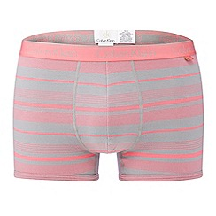 Calvin Klein - Pink block striped trunks