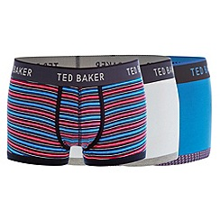 Ted Baker - Pack of three blue coloured striped boxers