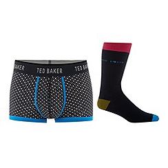 Ted Baker - Black heart printed socks and trunks gift set