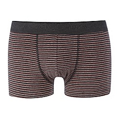 RJR.John Rocha - Designer peach fine striped hipster trunks