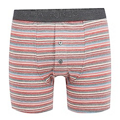 RJR.John Rocha - Designer dark peach striped button boxers