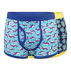 Red Herring - Pack of two blue octopus shark stretch cotton trunks