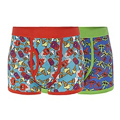 Red Herring - Pack of two blue summer print trunks