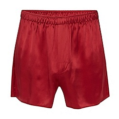 Thomas Nash - Red silk boxer shorts
