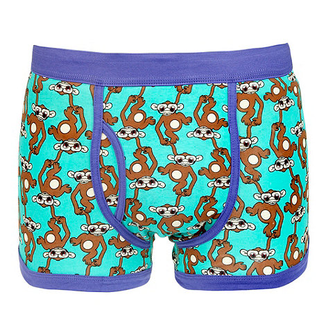 Red Herring - Green monkey print trunks