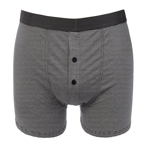 J by Jasper Conran - Designer grey fine striped two button boxer briefs