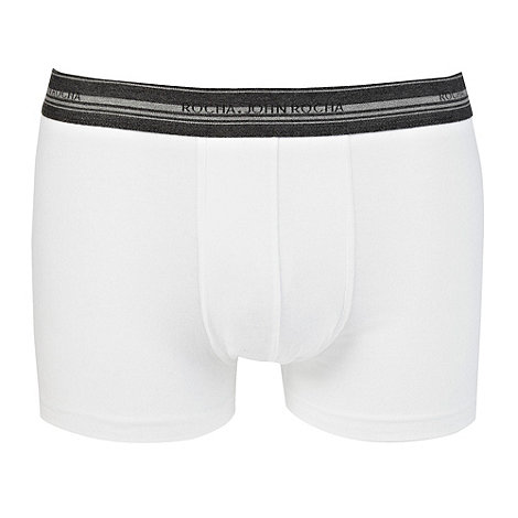 RJR.John Rocha - Designer white striped waistband hipster trunks