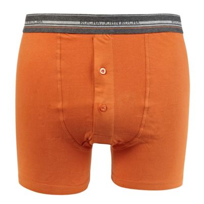 Orange Striped Waistband Boxer Briefs