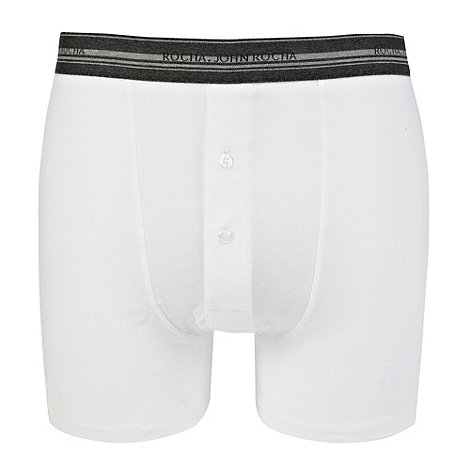 RJR.John Rocha - Designer white striped waistband boxer briefs