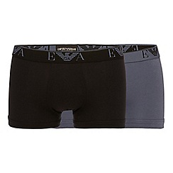 Emporio Armani - Pack of two navy stretch cotton trunks
