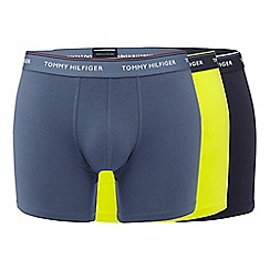 Tommy Hilfiger - Pack of three navy, bright lime and grey boxer briefs