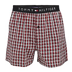 Tommy Hilfiger - Red checked boxers in a gift box