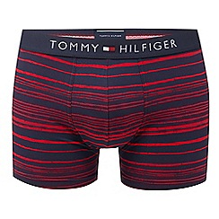 Tommy Hilfiger - Red striped hipster trunks
