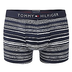 Tommy Hilfiger - Navy striped hipster trunks
