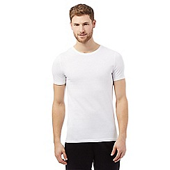 The Collection - Big and tall pack of two white cotton t-shirts