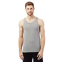 The Collection - Pack of two grey cotton vests