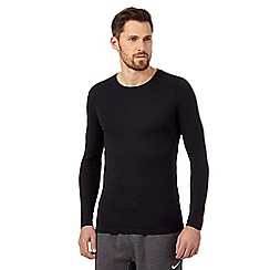 The Collection - Big and tall pack of two black long sleeved white t-shirts