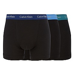 Calvin Klein - Pack of three black coloured waistband trunks