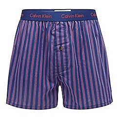 Calvin Klein - Navy striped slim fit boxers