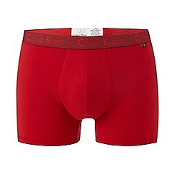 Calvin Klein - Red cotton stretch trunks
