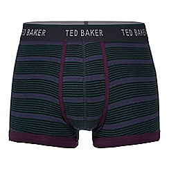 Ted Baker - Dark green variegated stripe trunks