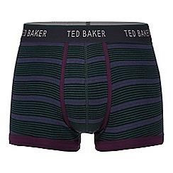Ted Baker - Dark green variegated stripe trunks