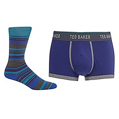 Ted Baker - Blue boxers and socks in gift box