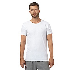 Gant - Pack of two white crew neck t-shirts