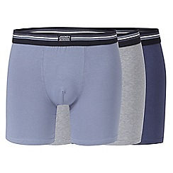 Jockey - Pack of three blue, light blue and grey boxer trunks