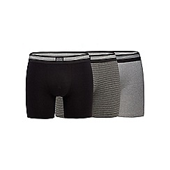 Jockey - Pack of three black cotton stretch boxers