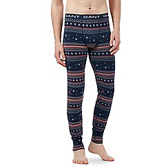 Gant - Navy ski print long johns