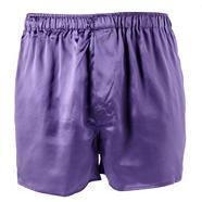 Purple silk boxer shorts