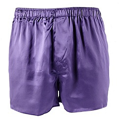 Thomas Nash - Purple silk boxer shorts
