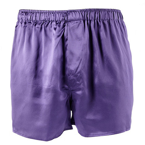 Thomas Nash - Purple silk boxer shorts