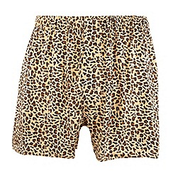 Thomas Nash - Gold leopard print silk boxer shorts
