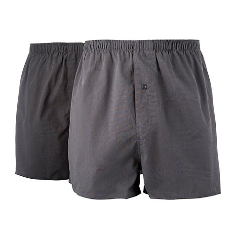 Thomas Nash - Set of two black woven boxers