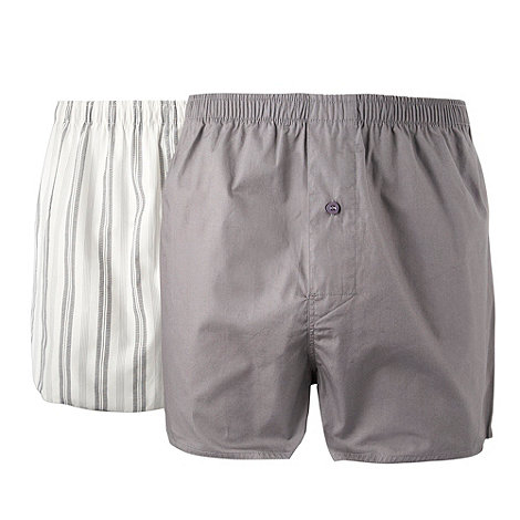 Thomas Nash - Grey pack of two woven boxers
