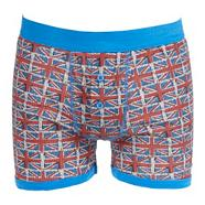 Blue 'Union Jack' button boxers