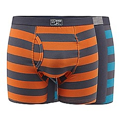 Mantaray - Pack of three grey striped keyhole trunks