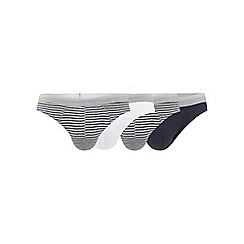 The Collection - Pack of four assorted plain and striped slip briefs