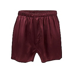 The Collection - Dark red silk boxers