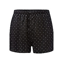 The Collection - Black polka dot print silk boxers