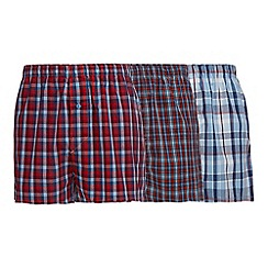 The Collection - Big and tall pack of three red checked boxers