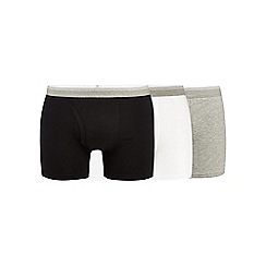 The Collection - Pack of three white, grey and navy plain trunks