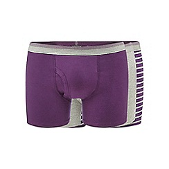 The Collection - Pack of three purple plain and striped trunks