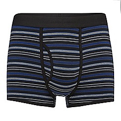 J by Jasper Conran - Black striped modal blend trunks