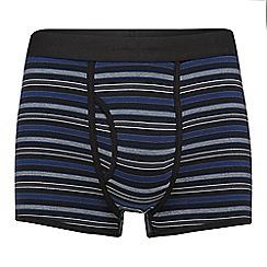 J by Jasper Conran - Black striped modal blend trunks