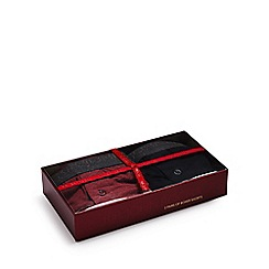 RJR.John Rocha - Pack of two red and black boxer shorts in a gift box