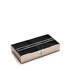 J by Jasper Conran - Pack of two black plain and spotted boxers in a gift box